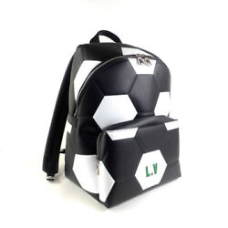 Louis Vuitton x FIFA 2018 M52186 Black Apollo Backpack EPI LEATHER Backpack Mint