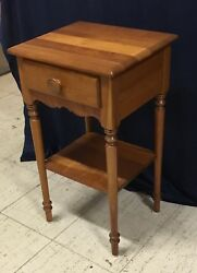 Solid Cherry 1 Drawer Vintage Nightstand End Table $285.00