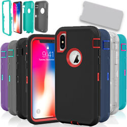 For Apple iPhone X XS XR Max 10S Case Protective Defender Shockproof Cover $5.99