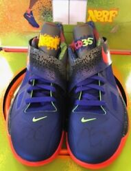 (SIGNED PAIR) KD 4 IV Nerf Promo Sample Sz 8 Zoom Nike w box and Ball