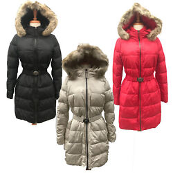 Coach Women#x27;s 83284 Legacy Long Down Winter Puffer Jacket Coat with Fur Hood $149.99