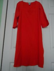 NEW Woman's size 16 Jessica London Cotton & Spandex Orange Dress