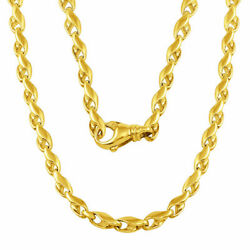 14K Gold Handmade Chain Necklace 5.8mm (Available in diff. Gold Color
