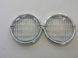 FOR JEEP CJ5 CJ7 CJ8 1976-1986 FRONT PARKING LAMP LENS OEM QUALITY PAIR NEW $19.95
