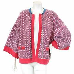 Auth CHANEL Cardigan Pink Cashmere 36 Women 90046491