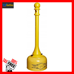 Cigarette Butts Ashtray Smokers Receptacle Steel Base Outdoor Stand Patio YELLOW