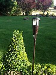 Newhouse Lighting MTIKIPOLE2-B Metal Poles For Solar Island Torches 2-Poles Bl