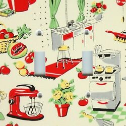 Light Switch Plate Cover VINTAGE HOME DECOR RETRO KITCHEN FIFTIES DINER 50s $10.88