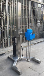 high shear mixer 1.5KW disperser emulsifying machine electric lifting basement w