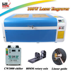 100W Co2 Laser Cutting Machine Cutter Engraver With DSP System Linear guide