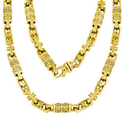 14K Gold Handmade Chain Link Necklace 7.55mm Avail. in diff. Gold Color