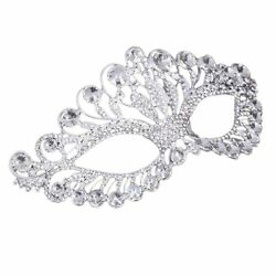 OULII Masquerade Mask Luxury Diamond Rhinestone Fancy Mask Party Crown Mask for