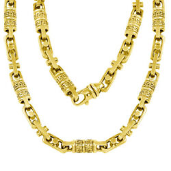 10k Solid Gold Handmade Link Necklace 7.55mm Available in Various Colors