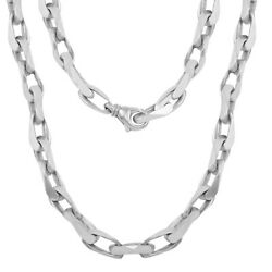 10k Gold Handmade Link Chain Necklace 8.9mm Available in Various Colors