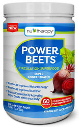 Nu-Therapy Power Beets Juice Powder (60 servings) Super Food Concentrated 11.6oz