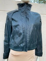 GORGEOUS NINA RICCI LUXURIOUS LEATHER RUNWAY MOTORCYCLE JACKET SZ S
