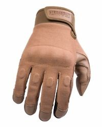 STRONGSUIT Warrior Glove TAN DDH Leather Smartphone Made with Kevlar Tactical $39.99