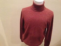$2195 LORO PIANA PURE BABY CASHMERE TURTLENECK SWEATER  SIZE US 46 EU 56