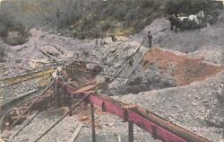 Australia GOLD MINING Miners Horse Sluice Boxes Equipment 1910 Postcard $6.98