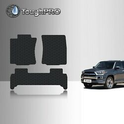 ToughPRO Floor Mats Black For Toyota 4Runner All Weather Custom Fit 2003 2009