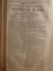 Charles Dickens Household Words Ropemaker's Wife THE BLACK LAD 1853