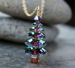 Creative Christmas Tree Pendant Necklace Women Girls Cute Fashion Jewelry Gifts