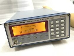 Rohde & Schwarz URE3 PEAKRMS Voltmeter with option B2
