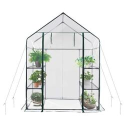 Walkin Greenhouse Portable Flower Garden New Mini Clear PVC Cover Stronger B*