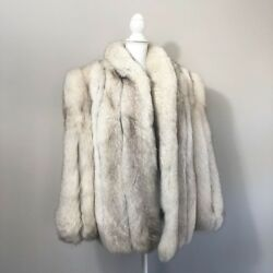 Women's Saga White Fox Fur Coat 1X 2x Plus Size