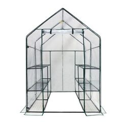 Greenhouse Walk in Deluxe 3 Tier 6 Shelf Clear Portable Anchors Sturdy Easy Up