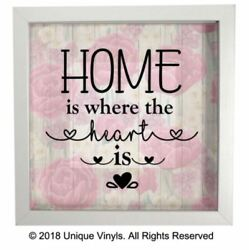Home is where the Heart is vinyl sticker for IKEA RIBBA BOX FRAME DIY FRAME GBP 4.99