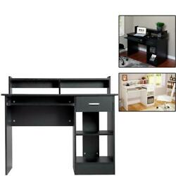Computer Desk PC Laptop Table Workstation with Shelves Study Writing Home Office $134.99