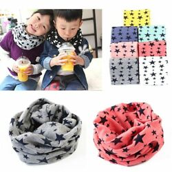 Boys Girls Neck Baby Kids Star Toddlers Knitted Circle loop Scarf Shawl Warmer $3.13