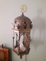 Middle Eastern Moorish Style Lantern Wall Sconces pair