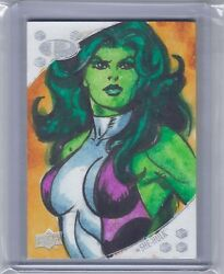 2017 Upper Deck Marvel Premier Joe Jusko She Hulk 11 Original Art Sketch Card
