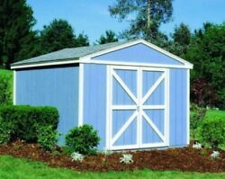 Wood Storage Shed Garage Workshop W Floor Kit Building Prefab 12 x 20 ft. X 10'