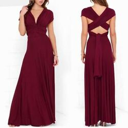 Women Convertible Casual Bandage Prom Party Infinity Multiway Solid Long Dresses $36.22