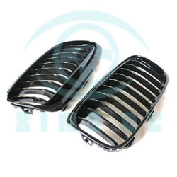 2Pcs For BMW 2 Series GT F45 F46 1 Slat Front Bumper Grille Matte Black ABS B