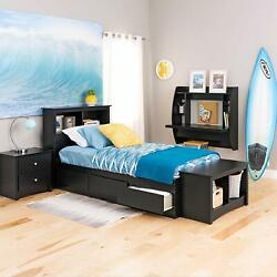 White Home Floating Computer Wall Mounted PC Laptop Desk w Storage Shelf $80.99
