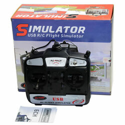 Dynam 6Ch USB FMS RC Model Flight Simulator Helicopter Airplane Mode 2 PC Game $39.00