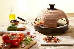 Electric Pizza Oven 6 Person Party Camping InOutdoor Kitchen Stone Mini Cook RV