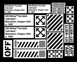 OFF WHITE AIR M PACK VINYL PAINTING STENCIL FOR SHOES & SMALL OBJECTS