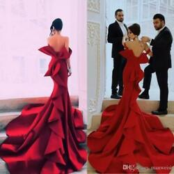 New Sexy Off Shoulder Backless Celebrity Carpet Party Pageant Prom Evening Dress