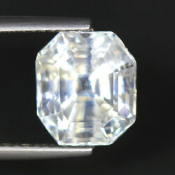 6.06 Cts_Great Diamond Lustrous_100 % Natural Unheated White Sapphire_Srilanka