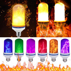 E26 108 LED Flame Fire Effect Simulated Nature Light Bulb Decor Atmosphere Lamp $7.99