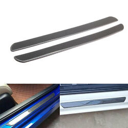Universal Carbon Fiber Door Scuff Plate Sill Cover Panel Protect Trim For Audi
