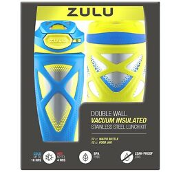 Zulu Kids Water Bottle and Canister Set Color Blue