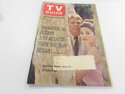 VINTAGE - TV GUIDE - FEB 12TH 1966 - PEYTON PLACE - COVER