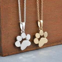 Fashion Cute Pets Dogs Footprints Paw Chain Pendant Necklace Jewelry For Women $7.98
