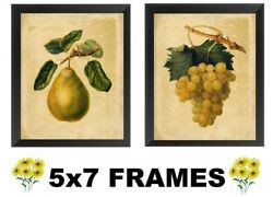 💗 5x7 Fruit Pictures Pear amp; Grapes Yellow Kitchen Decor Wall Hangings $8.99